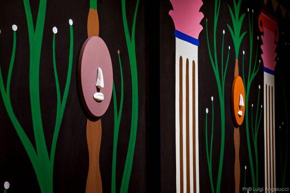 Vista dell'allestimento della mostra Agostino Iacurci. Tracing Vitruvi, Photo Luigi Angelucci