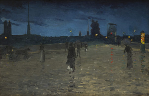 Charles Angrand, Il Ponte di Pietra a Rouen, 1881. Collection Association Peindre en Normandie, Caen