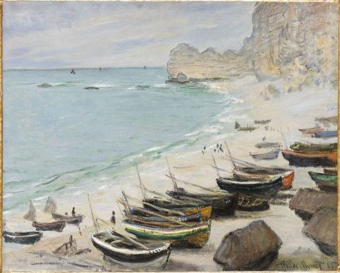 Claude Monet, Barche sulla spiaggia di Étretat, 1883. Fondation Bemberg, Tolosa