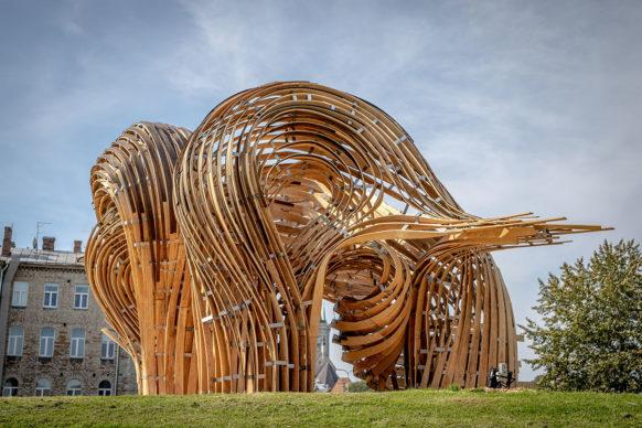 L'installazione Steampunk per la Tallinn Architecture Biennale 2019. Un progetto di Gwyllim Jahn, Cameron Newnham (Fologram), Soomeen Hahm Design, Igor Pantic, Format Engineers. © Evert Palmets