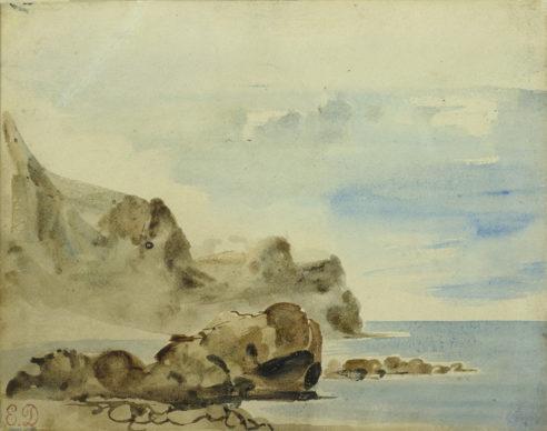 Eugène Delacroix, Falesie a Dieppe, 1834 ca. Collection Association Peindre en Normandie, Caen