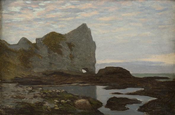 Claude Monet, Étretat, 1864 ca. Collection Association Peindre en Normandie, Caen