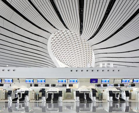 Zaha Hadid Architects (ZHA) e ADP Ingeniérie (ADPI), Beijing New Airport Construction Headquarters. Photo © Hufton+Crow