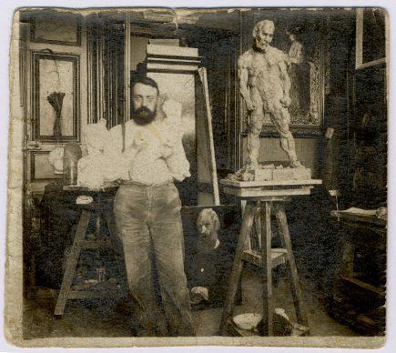 Hans Marsilius Purrmann, Matisse nel suo atelier, 1900-1903 Archives Henri Matisse, Issy-les-Moulineaux, © 2019 ProLitteris, Zurich