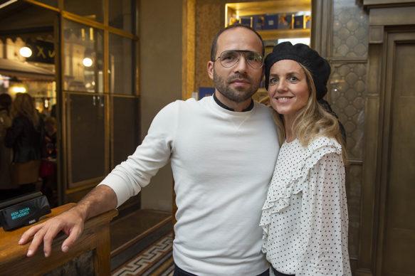 """Milano, Galleria Cracco: Giovanni Ozzola e  Sabrina Donadel all'opening di """"Through a day"""" di Giovanni Ozzola. Photo Carmine Conte"""