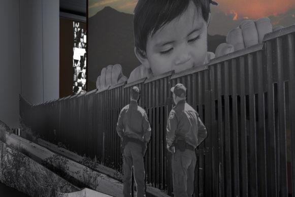 """Vista della mostra """"JR: Chronicles"""", al Brooklyn Museum di New York fino al 3 maggio 2020. Photo Jonathan Dorado"""