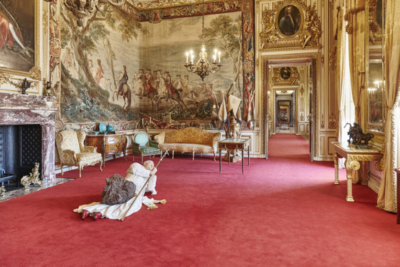 La Nona Ora, 1999. Victory is Not an Option, Maurizio Cattelan at Blenheim Palace, 2019, installation view. Photo by Tom Lindboe, courtesy of Blenheim Art Foundation