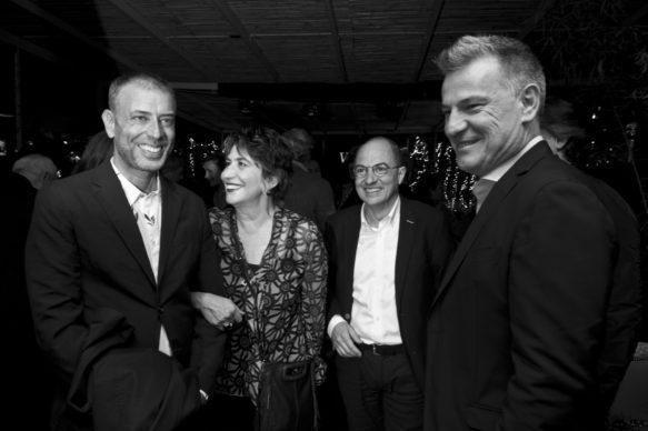 """Sky Arte, Evento """"Valorose"""": Ivan Cotroneo, Serena Dandini, Carlo Gavaudan e Roberto Pisoni. Photo Alessandro Pizzi"""