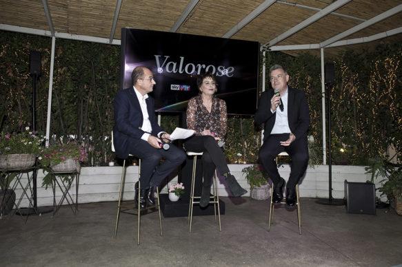 """Sky Arte, Evento """"Valorose"""": Carlo Gavaudan, Serena Dandini e Roberto Pisoni. Photo Alessandro Pizzi"""
