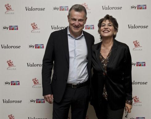 """Sky Arte, Evento """"Valorose"""": Roberto Pisoni e Serena Dandini. Photo Alessandro Pizzi"""