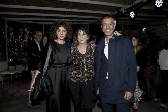 """Sky Arte, Evento """"Valorose"""": Valeria Golino, Serena Dandini e Ivan Cotroneo. Photo Alessandro Pizzi"""