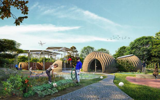 TECLA, l'habitat stampato in 3D di Mario Cucinella Architects e WASP. © Mario Cucinella Architects