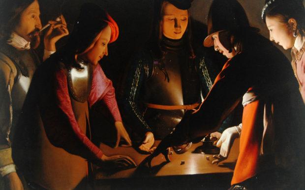 Georges de La Tour, I giocatori di dadi, 1650-1651, olio su tela 92,5 x 130,5 cm. Preston Park Museum and Grounds, Stockton-on-Tees. U.K.