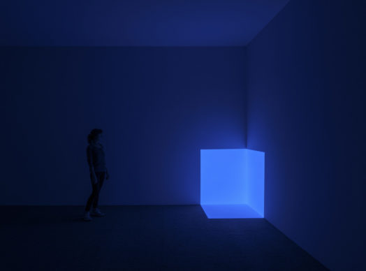 Squat Blue from the Projection Piece series, 1968, Museo Jumex, 2019. La Colección Jumex, México © James Turrell. Photo: Florian Holzherr