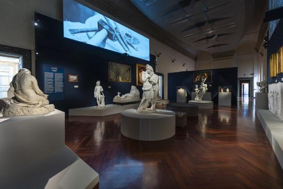 """Vista dell'allestimento della mostra """"Canova. Eterna bellezza"""", Museo di Roma ‒ Palazzo Braschi. Foto Museo di Roma - Palazzo Braschi"""