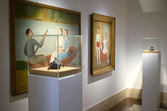 Antonio Donghi, Gita in barca e Piccoli Saltimbanchi con Jan Fabre, My Brain as a rowing boat e The Sound of the Brain. Photo credits CoopCulture per Palazzo Merulana