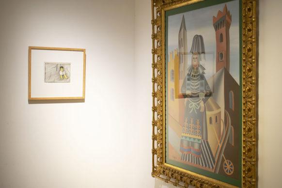 Jan Fabre, Brain of Ken con Fortunato Depero, Costume trentino. Photo credits CoopCulture per Palazzo Merulana