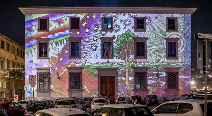 Firenze, F-Light - Firenze Light Festival 2019. Photo © Nicola Neri