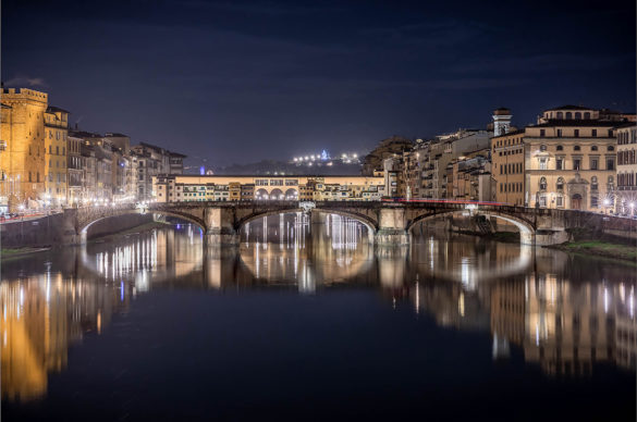 Firenze, Ponte Vecchio: F-Light - Firenze Light Festival 2019. Photo © Nicola Neri