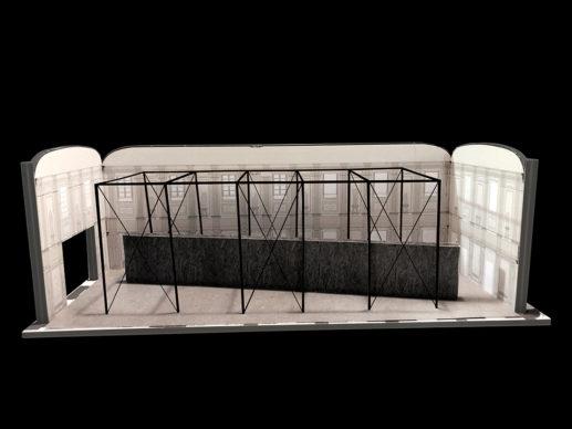 Emilio Vedova a Palazzo Reale, modello del progetto di allestimento © Alvisi Kirimoto
