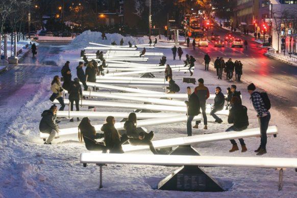 Luminothérapie, Montréal, Canada - Impulsion, by Lateral Office and CS Design.  Photo credit Ulysse Lemerise - OSA