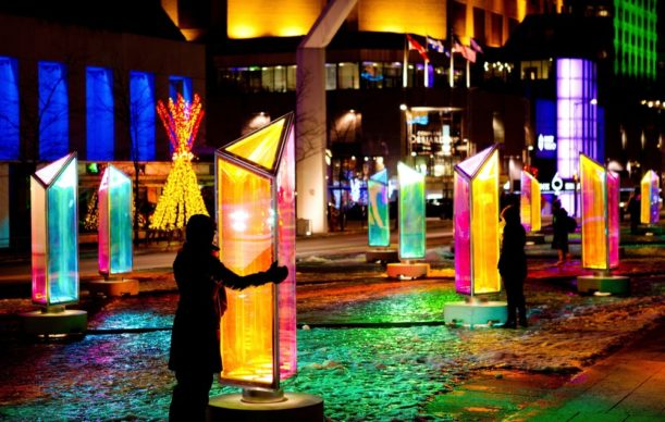 Luminothérapie, Montréal, Canada - Prismatica, by RAW Design, in collaboration with ATOMIC3. Photo credit Cindy Boyce