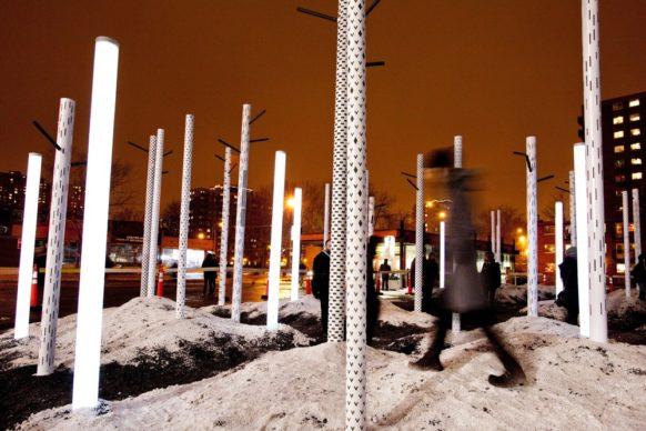 Luminothérapie, Montréal, Canada - FORÊT FORÊT, by Amandine Guillard, Anik Poirier, Albane Guy, TagTeam Studio, Impact Productions. Photo credit Martine Doyon
