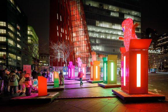 Luminothérapie, Montréal, Canada - POP! by Gentilhomme. Photo credit Ulysse Lemerise - OSA