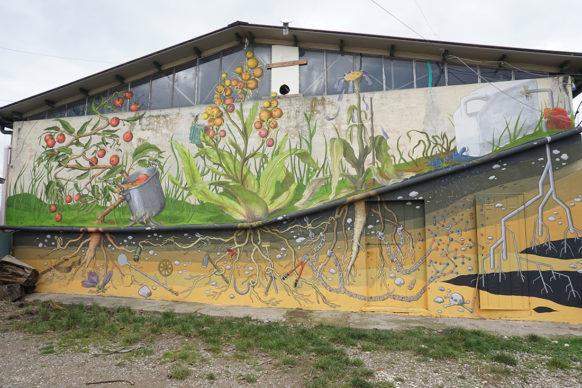 L'opera di Alleg per il progetto MondeggiArte, Bagno a Ripoli, Firenze. Foto Sabina Gala