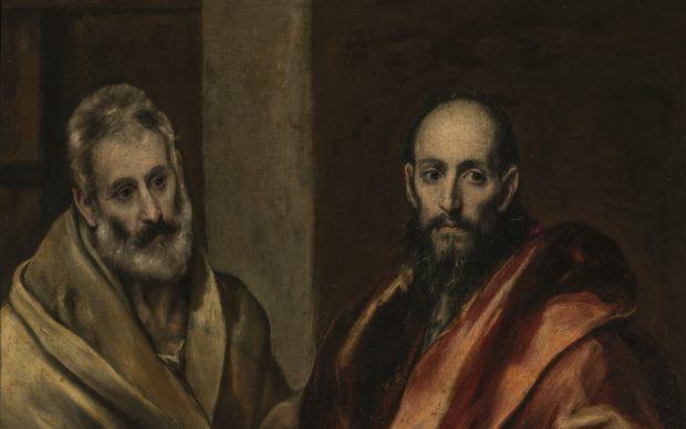 El Greco, Santi Pietro e Paolo (1587-1592) olio su tela, 121,5 x 105 cm. Oggi facente parte della collezione del Museo Statale Ermitage di San Pietroburgo. Photo © THE STATE HERMITAGE MUSEUM, (dettaglio)