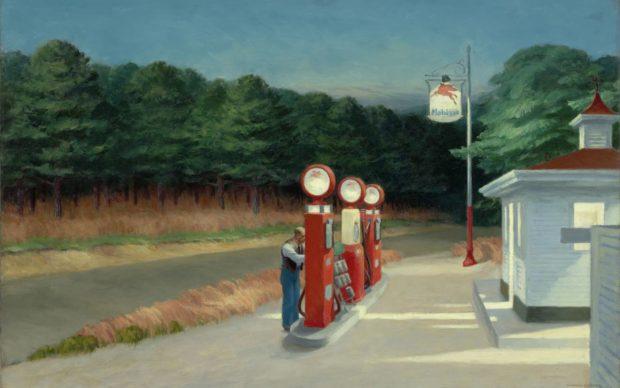 Edward Hopper, GAS, 1940. Oil on canvas, 66,7 x 102,2 cm. The Museum of Modern Art, New York, Mrs. Simon Guggenheim Fund © Heirs of Josephine Hopper / 2019, ProLitteris, Zurich © 2019 Digital image, The Museum of Modern Art, New York / Scala, Florence