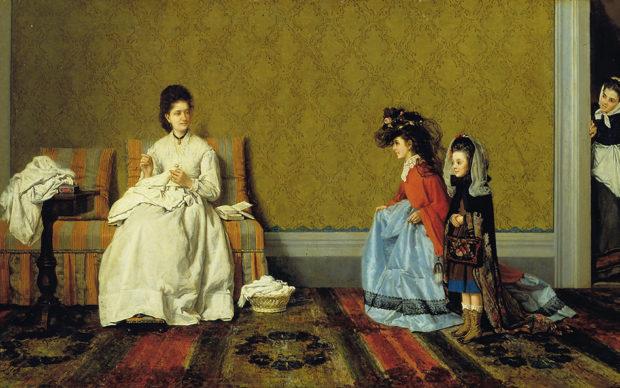Silvestro Lega, Le bambine che fanno le signore, 1873 (Istituto Matteucci, Viareggio)