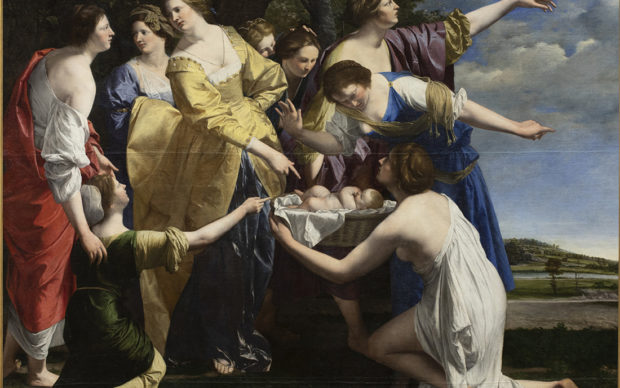 Orazio Gentileschi, The Finding of Moses, early 1630s. Private Collection