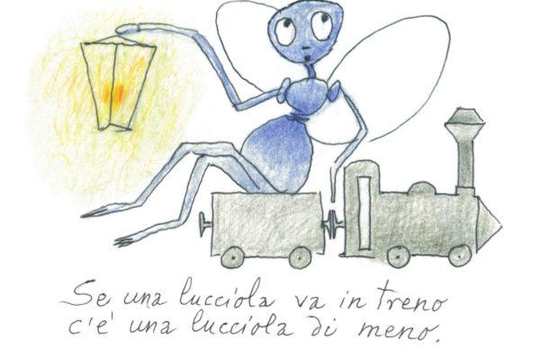 Una illustrazione di Toti Scialoja per il libro Tre per un topo(Quodlibet, 2019)