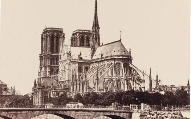 GUILLAUMIN, Armand_El puente del Palacio del Arzobispado y el ábside de Notre-Dame de París, c. 1880_(CTB.1994.12)