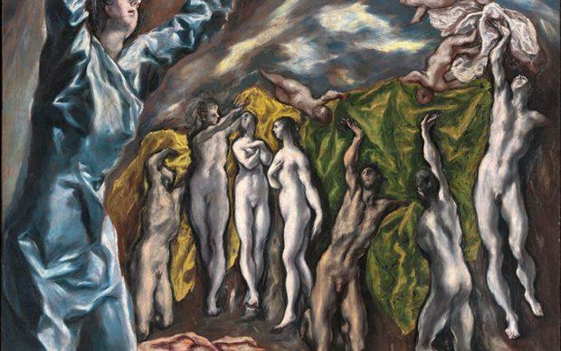 El Greco, L'apertura del quinto sigillo, detto anche La visione di San Giovanni, 1610-14, 222,3 x 193 cm, olio su tela. New York, The Metropolitan Museum of Art, Rogers Fund, 1956. Photo© The Metropolitan Museum of Art, Dist. RMN-Grand Palais / image of the MMA. Via Artribune