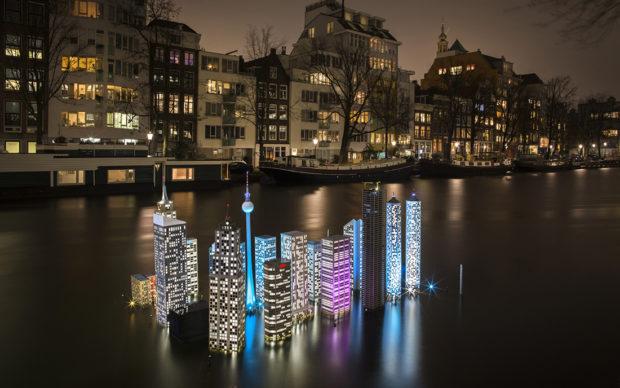 Atlantis by Utskottet. Amsterdam Light Festival 2019. Photo Copyright Janus van den Eijnden