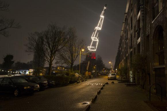 Between the Lines by Har Hollands. Amsterdam Light Festival 2019. Photo Copyright Janus van den Eijnden