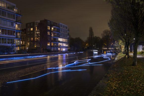 Icebreaker by Wilhelmusvlug. Amsterdam Light Festival 2019. Photo Copyright Janus van den Eijnden