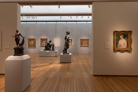 Vista dell'allestimento della mostra Renoir: The Body, The Senses, al Kimbell Art Museum di Fort Worth. Credit Line: Robert LaPrelle, Kimbell Art Museum