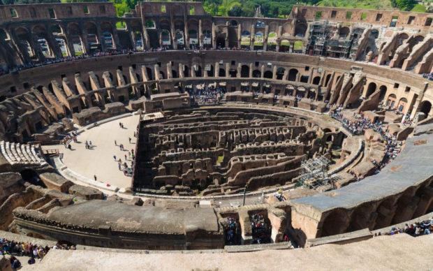 Vista del Colosseo e della cavea interna. Crediti: Archivio fotografico Parco archeologico del Colosseo
