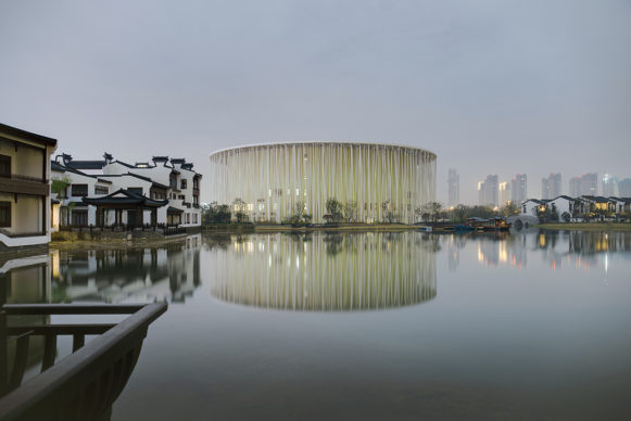 Wuxi Taihu Show Theatre by  Steven Chilton Architects. Photo Kris Provoost