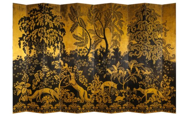 Ten-leaved Screen Foxes Armand-Albert Rateau France, Paris, c. 1921–1922 Lacquered and gilded wood Paris, Musée des Arts Décoratifs Gift of Prince Louis de Polignac, with the agreement of Yves Lanvin, in memory of Countess Jean de Polignac, daughter of Jeanne Lanvin, 1965 Photo credit: © MAD, Paris - Jean Tholance