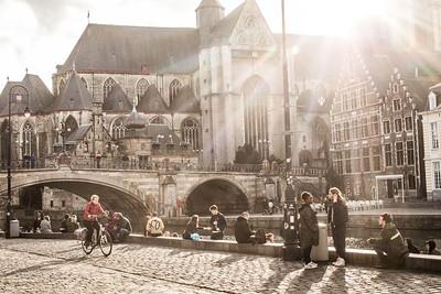 The beauty of the Graslei, Gent - Fiandre. Photo by Bas Bogaerts © Stad Gent-Dienst Toerisme. Foto via flickr.com/photos/visit_gent
