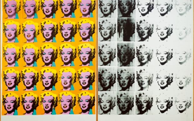 Andy Warhol, Marilyn Diptych, 1962. Tate © 2019 The Andy Warhol Foundation for the Visual Arts, Inc / Artists Right Society (ARS), New York and DACS, London