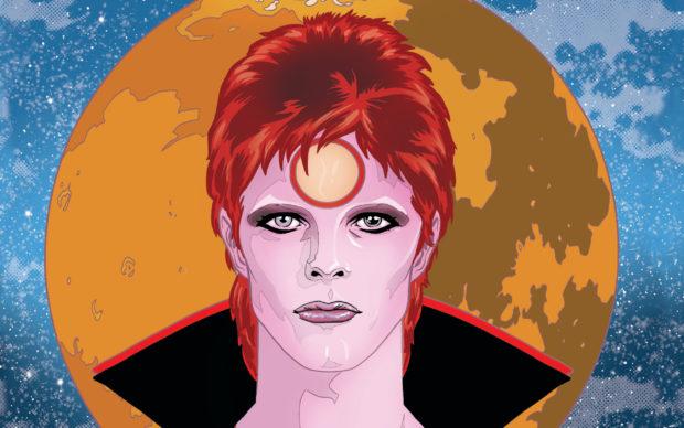 Michael e Laura Allred, Bowie – Stardust, Rayguns & Moonage Daydreams, Panini Comics 2020, dettaglio della copertina