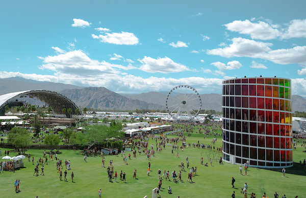 View of the Coachella Valley Music and Arts Festival 2019, image courtesy Goldenvoice