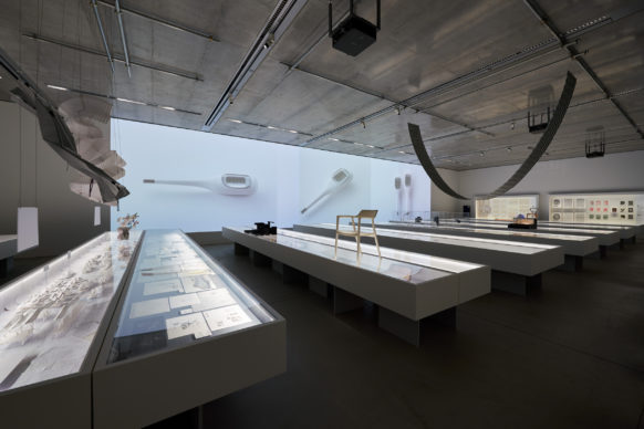 "Vista dell'allestimento della mostra ""Secret Source of Inspiration: Designers' Hidden Sketches and Mockup"" ‒ Gallery 2. Photo Masaya Yoshimura"