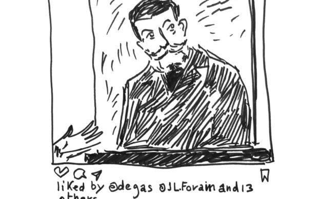 L?illustrazione di Jean-Philippe Delhomme dal profilo Instagram del Musée d'Orsay