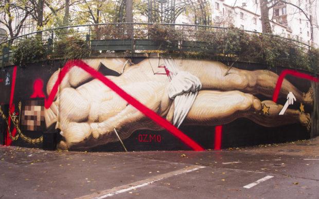 OZMO_The-Dream-of-Saint-Sebastian_-leMur12-Paris-photo Ana-Raga